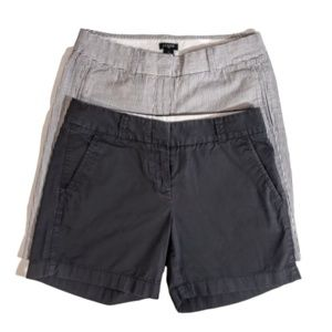 2 Pair J. Crew Shorts Lot Sz. 0